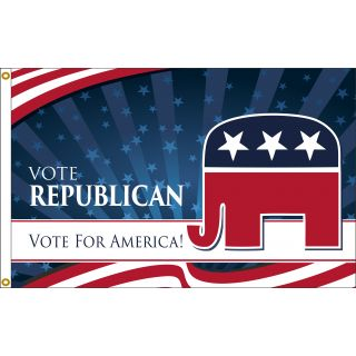 Vote republican flag